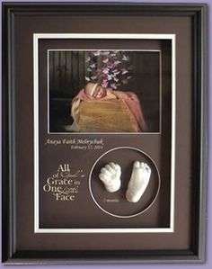 Shadow Boxes NEW Grace Large Frame with 8x10 Photo #weepiggies #lifecasting #baby