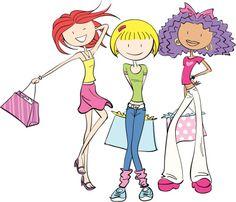 shopping girls clipart - Google Search