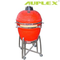 18 inch Hot red color kamado  21'' new glazing fomular red ceramic kamado grill by Auplex (China) 360 $ for bbq, smoking and making pizza, bread, etc