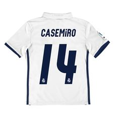Real Madrid Home Jersey 2016/17 - Kids - with Casemiro 14 printing: The Real Madrid Home Shirt 2016-17 -… #RealMadridShop #RealMadridStore