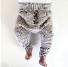 knitted baby trousers