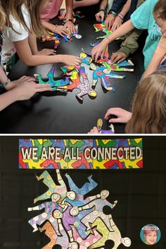 project to use with your students grades 3 and above. … – Back to School Fun Team Building Activities, First Day Of School Activities, 1st Day Of School, Middle School Art, Beginning Of School, Art Activities, Art School, Back To School, All About Me Poster