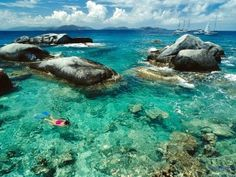 British Virgin Islands with beautiful sea corals beach images