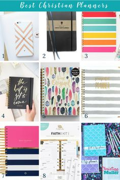Looking for a planner that encourages your faith? Check out my top picks for best Christian planners for 2017