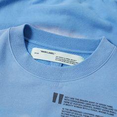 Off-White Liberty Crew Sweat Light Blue 6 Shirt Print Design, Shirt Designs, Dress Designs, Logos Retro, Vintage Logos, T Shirt Label, Clothing Brand Logos, Label Design, Ad Design
