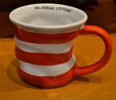 #DrSuess Red & White Stripes #UniversalStudios The #CatInTheHat #Coffee Mug for sale in my ebay store