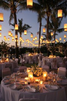 Lanterns add beauty to any outdoor ceremony!