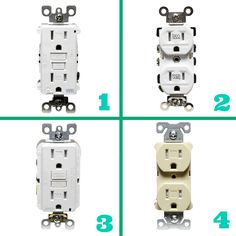 Learn the differences between these 4 types of electrical outlets: http://www.familyhandyman.com/electrical/wiring/wiring-switches-and-outlets