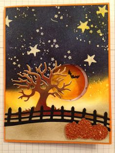 Judy's Stamp Pad: Stampers Dozen Blog Hop - Cards that Move.  (Pin#1: Halloween: Scenes. Pin+: Halloween: Peek-A-Boo).