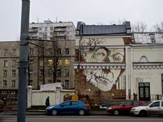 """Scratching the Surface by Alexandre Farto aka Vhils  """"With my work, I try to delve into the several layers that compose the edifice of history, to take the shadows cast by this model of uniform development to try and understand what lies behind it."""" -Vhils"""