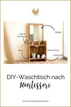 DIY: Montessori washstand (Or: brush your teeth without a fight) - Home Page Ikea Montessori, Montessori Toddler, Preschool Arts And Crafts, Wash Stand, Kids Wood, New Classroom, Practical Life, Kids Bedroom, Diy Furniture