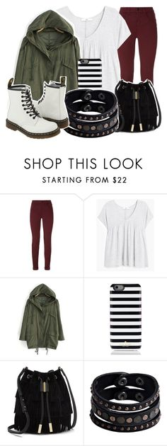 """""""You runaway"""" by god-girl ❤ liked on Polyvore featuring J Brand, MANGO, Kate Spade, Vince Camuto, Replay and Dr. Martens"""