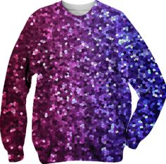Sweatshirt Mosaic Sparkley Texture G5 from Print All Over Me #Pritalloverme #Sweatshirt #Mosaic #Sparkley #Texture #glitter #blue #red #Paoms #Paom #Clothing