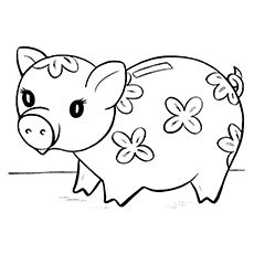 10 Piggy Bank Coloring Pages For Your Little Ones Pig Bank, Pig Drawing, Cute Piggies, Journalling, Adult Coloring Pages, Journal Ideas, Little Ones, Stencils, Art Ideas