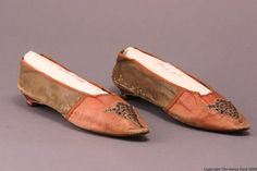 Women's Slippers, about 1800, via The Henry Ford Costume Collection.