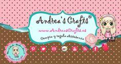Desde ahora en adelante podrás encontrar todos mis trabajos en este Tablero, Andrea's Crafts. También puedes seguirme en Facebook, Twitter y pagina web.  Te espero!