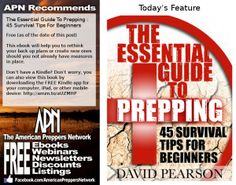 Free Ebook:  The Essential Guide To Prepping - 45 Survival Tips For Beginners by David Pearson.