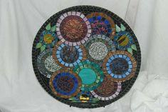 Lazy Susan Stained Glass Mosaic Flower Garden by NatureUnderGlass, $90.00