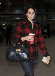 Lana Del Rey Style Inspiration #check#shirt