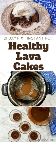 I get it–Instant Pot lava cake has been done. I've cleaned the recipe up and this is as close to a Healthy Lava Cake as you can get. 21 Day Fix Lava Cake Lava Cake Recipes, Lava Cakes, Healthy Brownies, Best Instant Pot Recipe, Instant Pot Dinner Recipes, Instant Recipes, Paleo Dessert, Healthy Dessert Recipes, Pie Cake