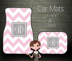 Custom Personalized & Monogrammed Car Mats, Choose Your Colors on Etsy, $39.99