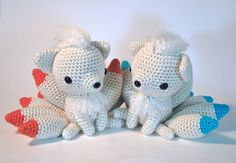 Ninetales Pokemon - free crochet pattern by Secretly Gnoming Productions