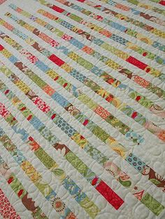 Sampaguita Quilts: Growing .... a honey bun quilt.  semi-tutorial.