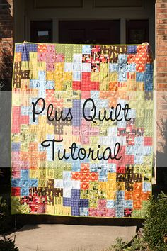 Modern Quilts | Sewing Tutorials | In Color Order: Plus Quilt Tutorial
