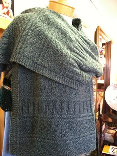 """On my """"to do"""" list - the Guernsey Wrap by knitwear designer, Jared Flood."""