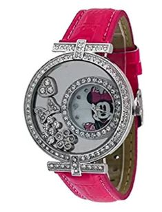 Disney Discovery- Minnie Mouse Floating Crystal Pink Watch