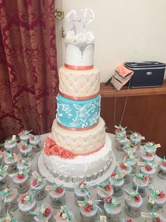 5 tier wedding cake! ❤️