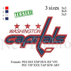 Washington Capitals logo 2 embroidery design embroidery pattern No 196 ... 3…