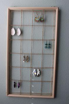 Wooden Earring Display by GraceAbigailDesigns on Etsy, $45.00