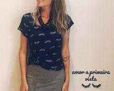 É de brilhar os olhos a coleção da @loja_amei 🤩 #lojaamei #cafofoamei #muitoamorenvolvido❤️ #saia #blusa #cilios #estampa #moda #estilo #fashion #news