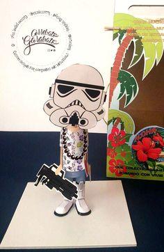 #custompapertoys #papercraft #gift #regalo #original #papel #personalizado #papertoys #starwars #trooper #geek #aniversario