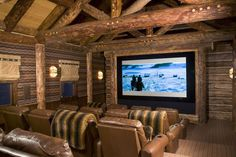 The wonders of the wild wild west! - The Enchanted Home The wonders of the wild wild west! – The Enchanted Home Movie Theater Rooms, Theatre Rooms, Attic Theater, Basement Renovations, Basement Ideas, Basement Bars, Walkout Basement, Basement Designs, Enchanted Home