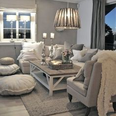 Beautiful mix of gray and cream.