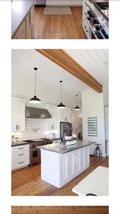Beam for header in kitchen