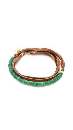 Shashi Rachel Small Leather Wrap Bracelet by Shopbop