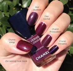 Fall Nails - Burgundy - Pin it Blog