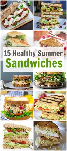 Healthy Summer Sandwiches An awesome collection of 15 Healthy Summer Sandwiches for your picnic, lunch or a quick summer meal. - An awesome collection of 15 Healthy Summer Sandwiches for your picnic, lunch or a quick summer meal. Healthy Snacks, Healthy Eating, Healthy Recipes, Clean Eating, Healthy Picnic, Quick Summer Meals, Summer Lunch Recipes, Summer Meal Ideas, Summer Lunches