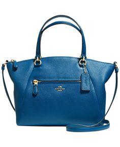 COACH PRAIRIE SATCHEL IN PEBBLE LEATHER - Coach Handbags - Handbags  Accessories - Macys