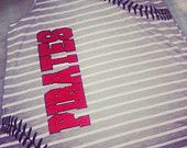 Baseball stitches softball racer back tank by Rocknmamadesigns