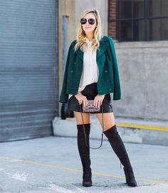 If you're going to buy one new pair of shoes this fall/winter, make it thigh high boots. Trust me. Thigh high boots, also known as over-the-knee boots to some, are a definite style staple this year, and don't seem to be going anywhere any time soon. They've practically replaced knee high boots for right now (although those are still great) and it's impossible to go on Instagram without seeing at least one #OOTD featuring them.