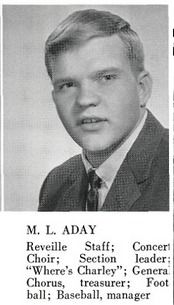 Meat Loaf (Marvin Aday) in his 1965 yearbook at Thomas Jefferson High School in Dallas, Texas.