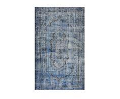 Blauw Perzisch Tapijt : Blauw geverfd perzisch tapijt is door zijn look goed te