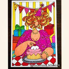 Kleuren voor volwassenen, kleurboek voor volwassenen, dikke dames, het enige echte dikke dames kleurboek om te versturen, stabilo, naomi kleurt