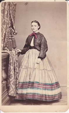 A hand tinted 1860s CDV by T. M. Reger of Philadelphia by emily