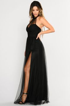 Off The Tulle Gown - Black - Dresses - Fashion Nova