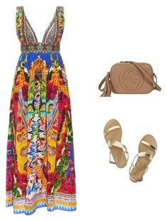 """""""summer #2"""" by ainsleylouise on Polyvore featuring Camilla, Ancient Greek Sandals and Gucci"""
